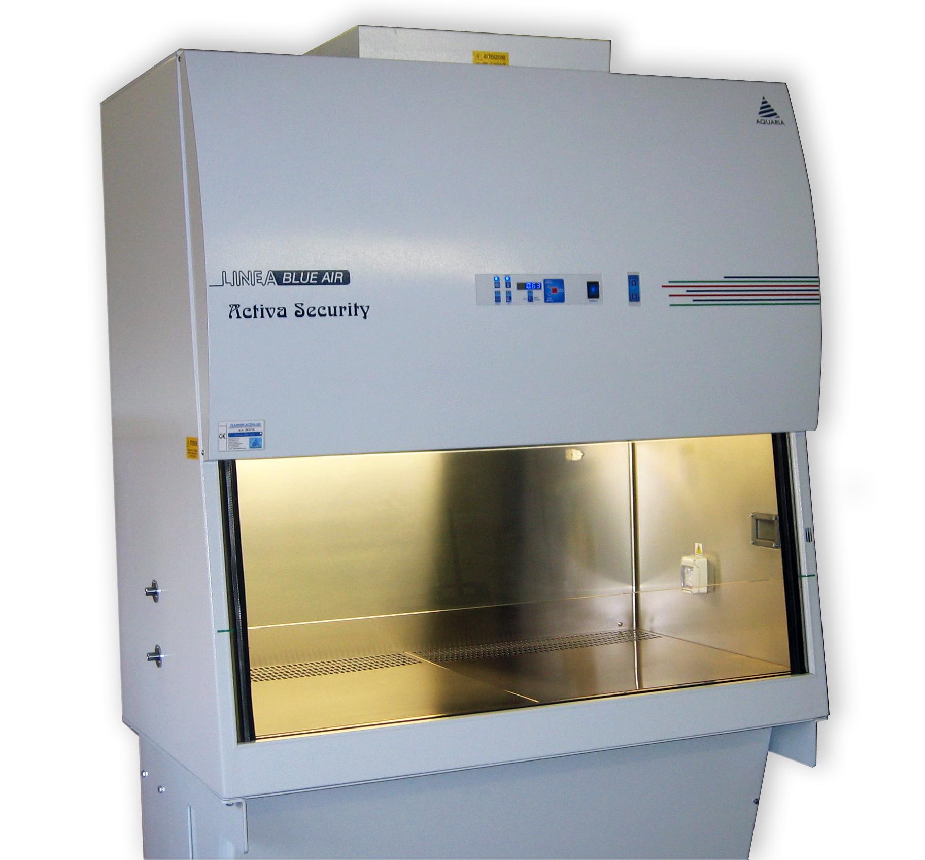 """Cabina per la manipolazione di fibre e polveri, """"Activa Security ..."""